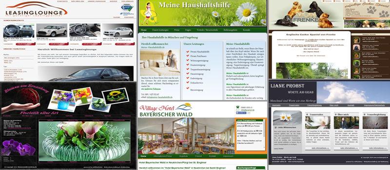 Webseiten die wir für unsere Kunden erstellt haben